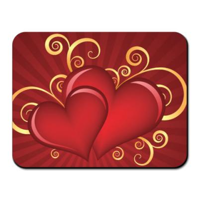 Коврик для мыши Любовь двух сердец