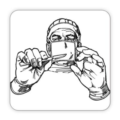 Костер (подставка под кружку) для хирурга