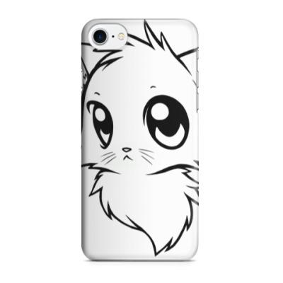 Чехол для iPhone 7/8 Белый кот