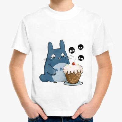Детская футболка Тоторо и кексик
