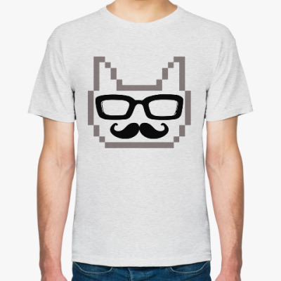 Футболка cat+glasses+mustache=love