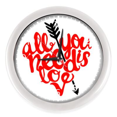 Настенные часы All you need is love