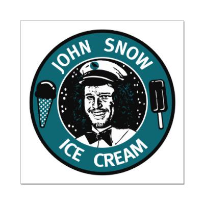 Наклейка (стикер) Джон Сноу - Мороженое