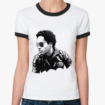 Женская футболка Ringer-T Lenny Kravitz