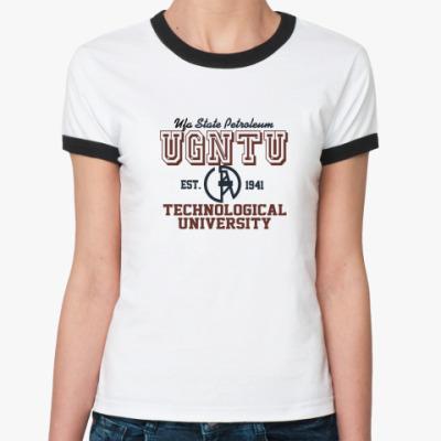 Женская футболка Ringer-T УГНТУ