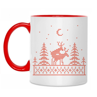 Кружка Рождественские олени