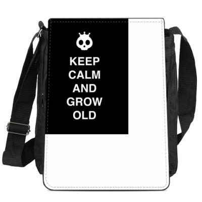 Сумка-планшет Keep calm and grow old