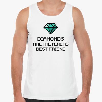 Майка Minecraft - diamonds