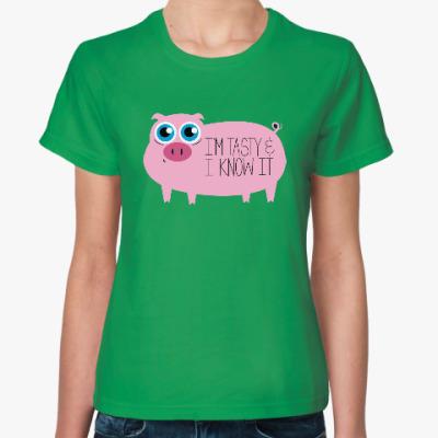 Женская футболка Я вкусный