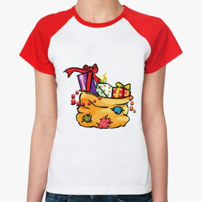 Женская футболка реглан Лучший твой подарочек - это Я