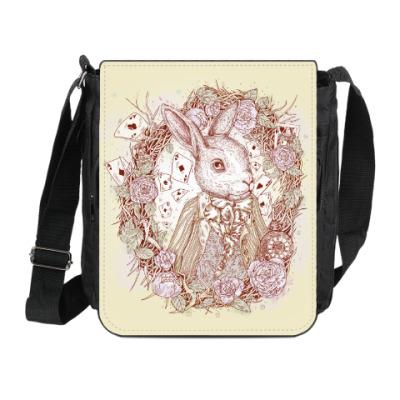 Сумка на плечо (мини-планшет) Белый Кролик