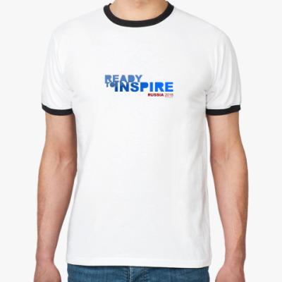 Футболка Ringer-T Ready to INSPIRE