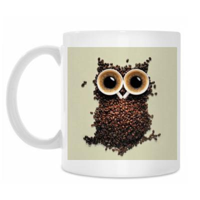 Кружка Кружка белая кофейная сова