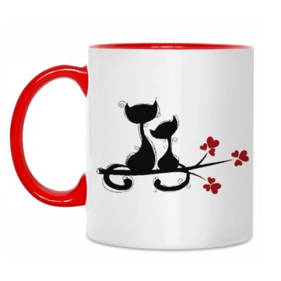 Кружка Любовь и кошки