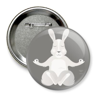 Значок 75мм Animal Zen: R is for Rabbit