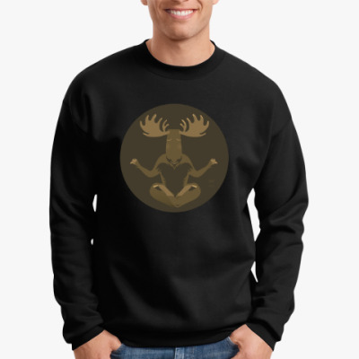 Свитшот Animal Zen: M is for Moose