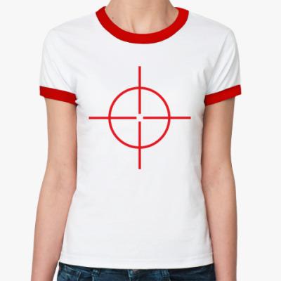 Женская футболка Ringer-T Прицел