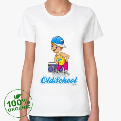 Женская футболка из органик-хлопка Old School_Старая школа