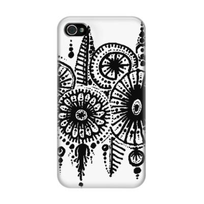 Чехол для iPhone 4/4s Зимний лес