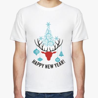 Футболка Олени. Любовь. Новый год.