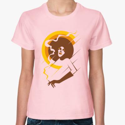 Женская футболка Ретро леди