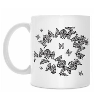 Кружка кружавчатые бабочки