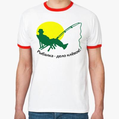 Футболка Ringer-T Рыбалка-дело клёвое