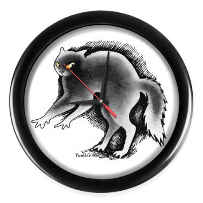 Настенные часы Кот ушёл