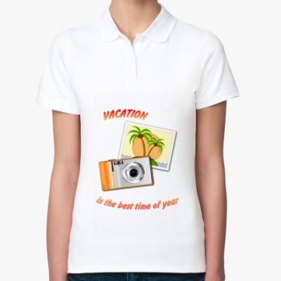 Женская рубашка поло  Отпуск