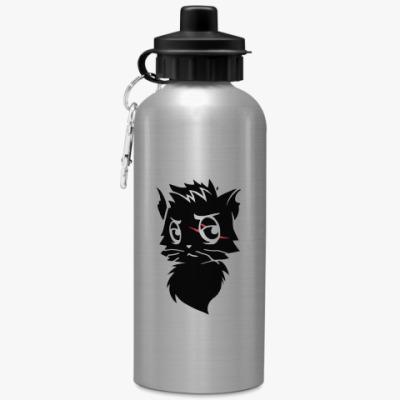 Спортивная бутылка/фляжка Черный кот new
