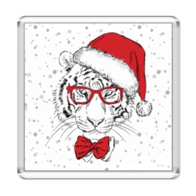 Магнит Тигр Санта Клаус