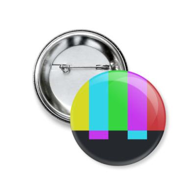 Значок 37мм принт Шелдона 'TVbars'