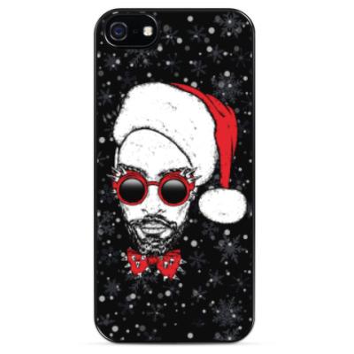 Чехол для iPhone Хипстер Санта