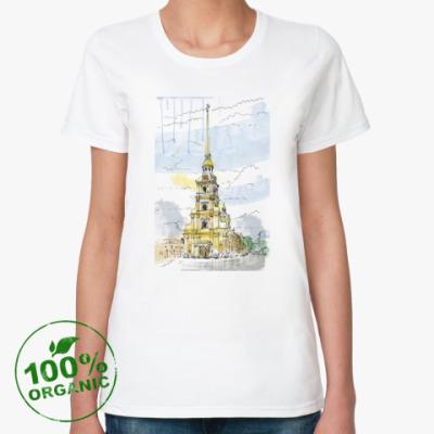 Женская футболка из органик-хлопка Петропавловская крепость