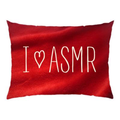 Подушка Я люблю АСМР (бархат)