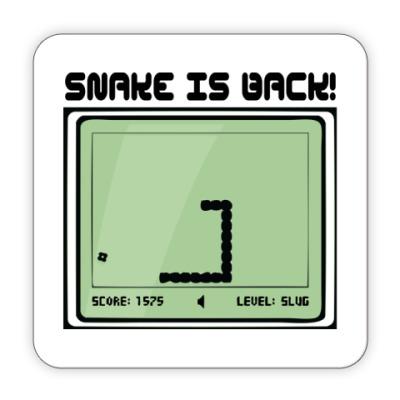 Костер (подставка под кружку) Ретро-принт SNAKE IS BACK!