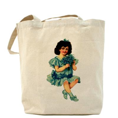 Сумка `Девочка с букетом`
