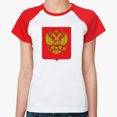 Женская футболка реглан Герб России