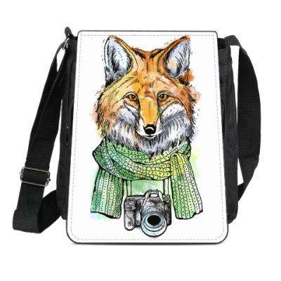 Сумка-планшет Лис-фотограф