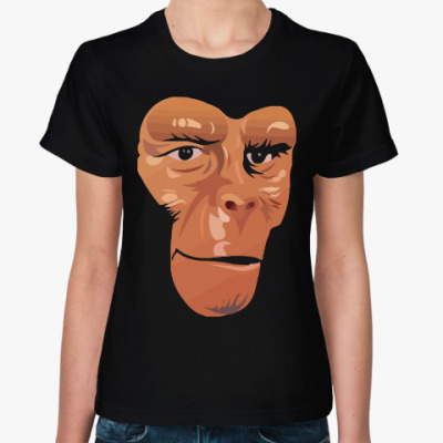 Женская футболка Обезьяна (Планета Обезьян)