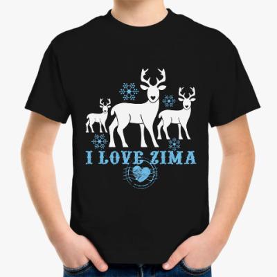 Детская футболка Олени Новый год