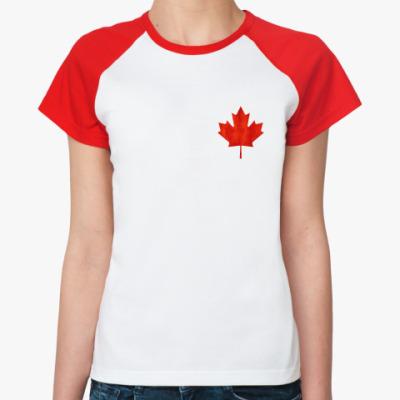 Женская футболка реглан Канада