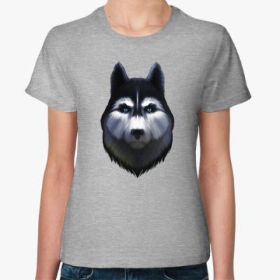 Женская футболка Сибирский хаски