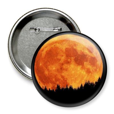 Значок 75мм Луна