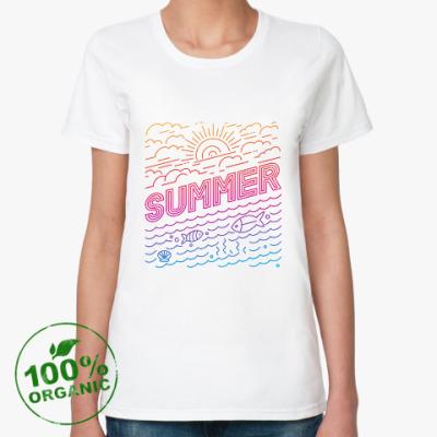 Женская футболка из органик-хлопка Летнее настроение