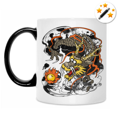 Кружка-хамелеон Дракон с жемчужиной
