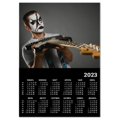 Календарь Настенный календарь A4 2019, черный
