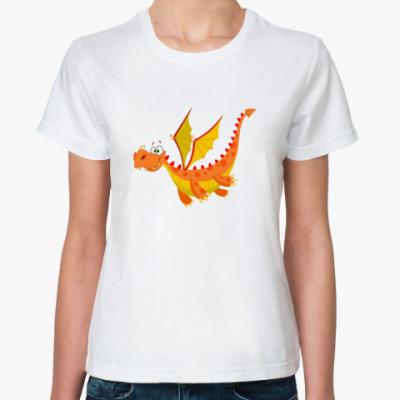 Классическая футболка Дракон