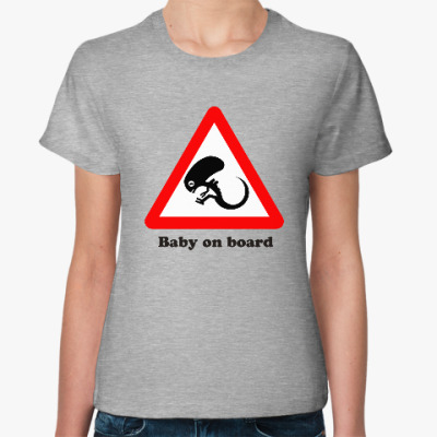 Женская футболка Ребенок на борту