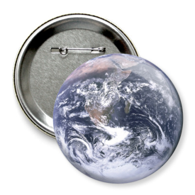 Значок 75мм Планета Земля